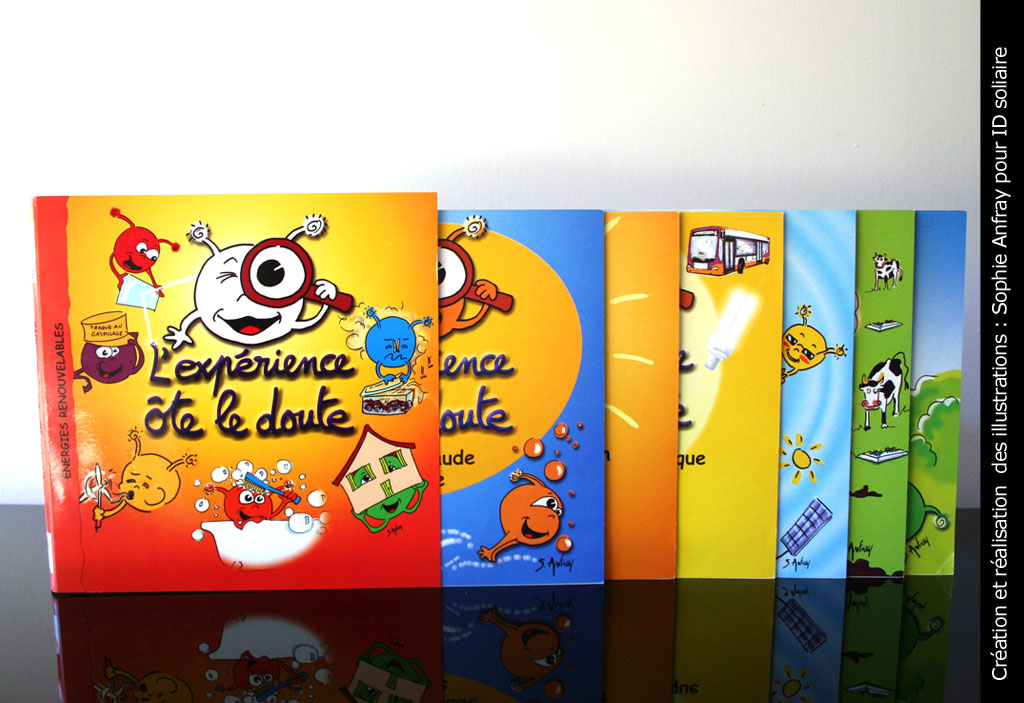 Photo des 6 livrets pédagogiques dans leur pochette.