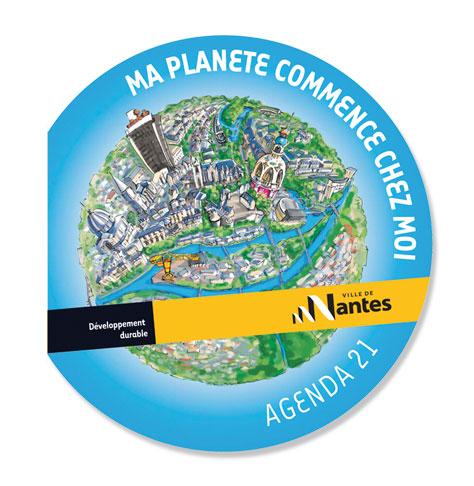 Couverture de l'Agenda 21 de la ville de Nantes.