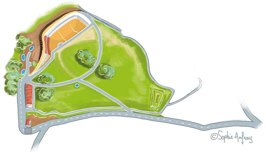 Plan du bioréacteur Trifyl à sa création.