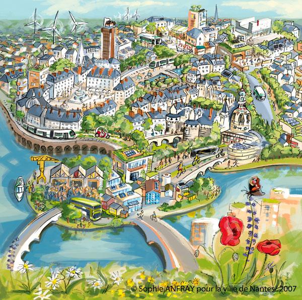 Illustration de la ville de Nantes.