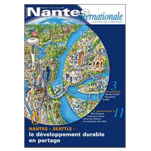 Illustration Nantes-Seattle en une du magazine.