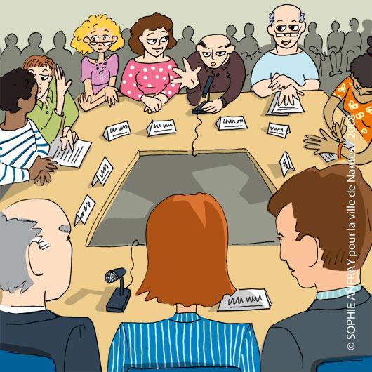 Délégués du personnel et dirigeants autour d'une table.