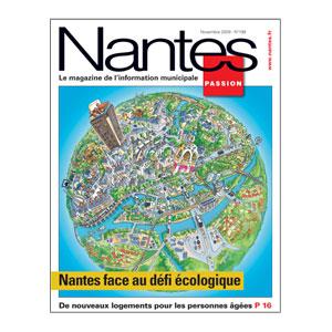 Une du Nantes Passion titre sur Nantes Face au défi écologique.