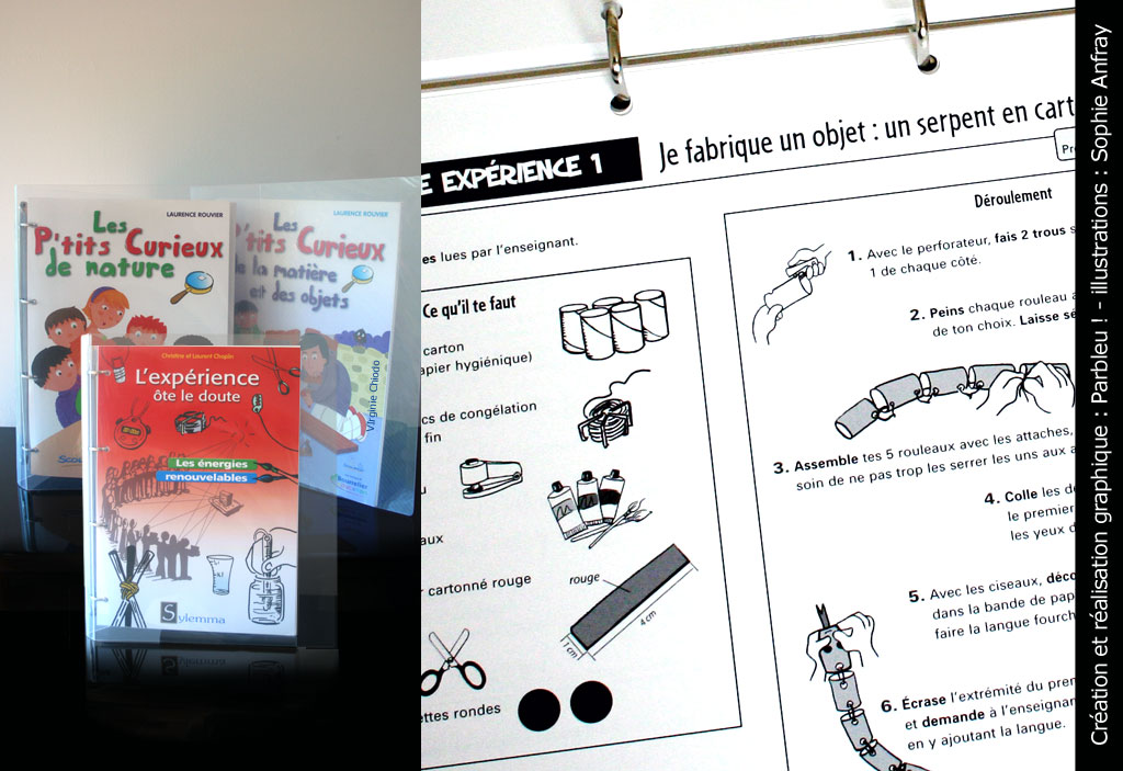 Photo de fichiers d'activités des éditions Bourrelier Education.