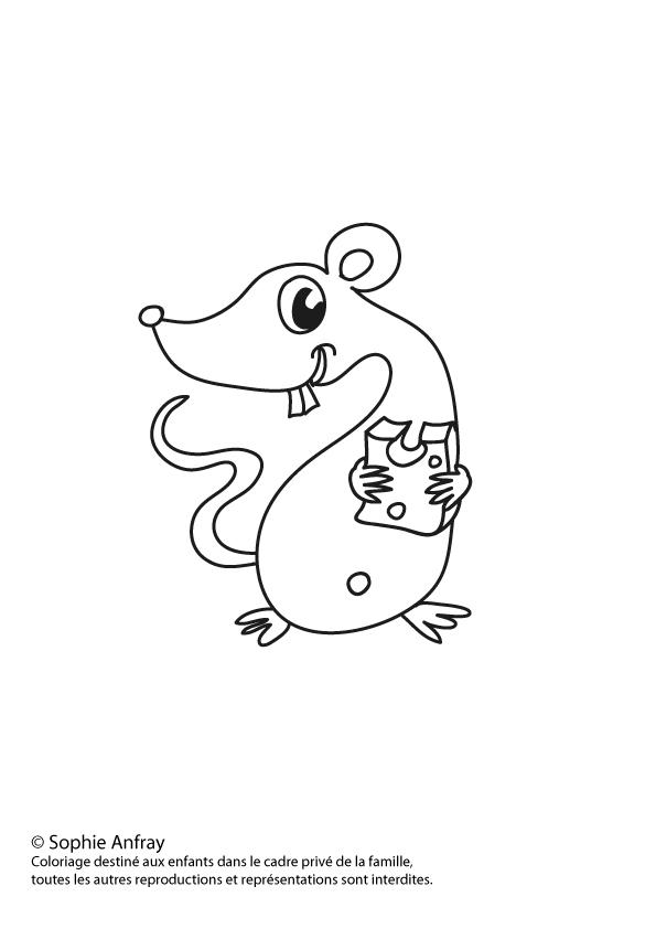 Coloriage pour enfant - La Petite Souris