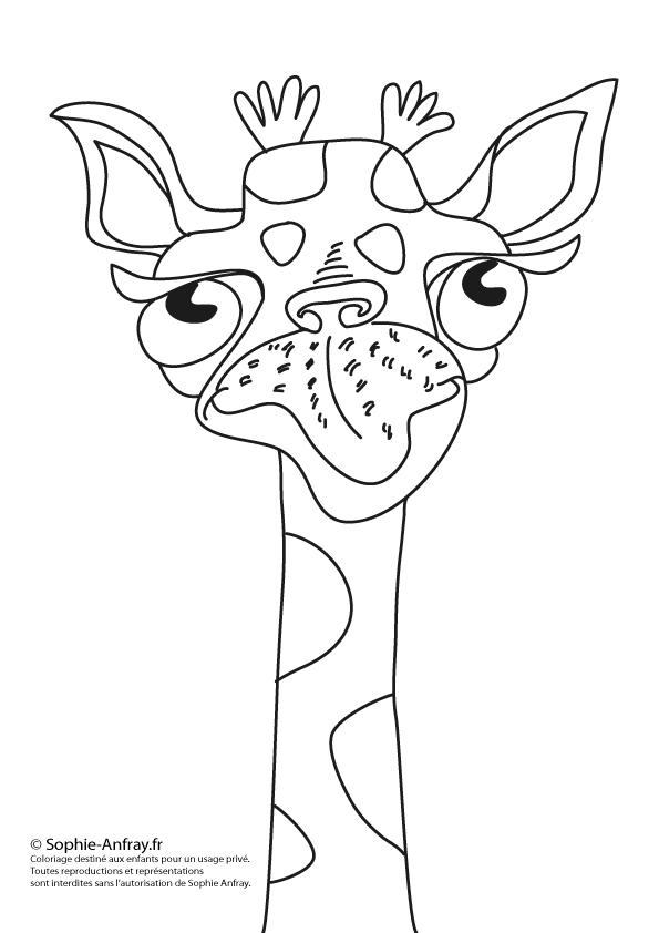 Coloriage pour enfant - La girafe