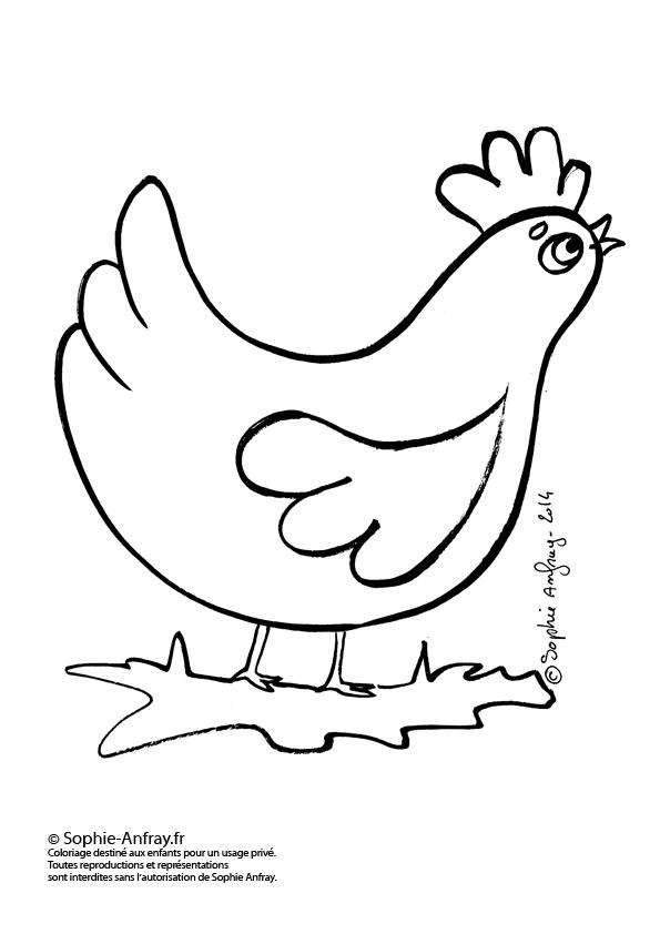 Petite poule sophie anfray - Poule de paques a imprimer ...