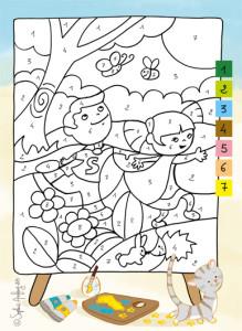 Jeux de coloriage avec numéros