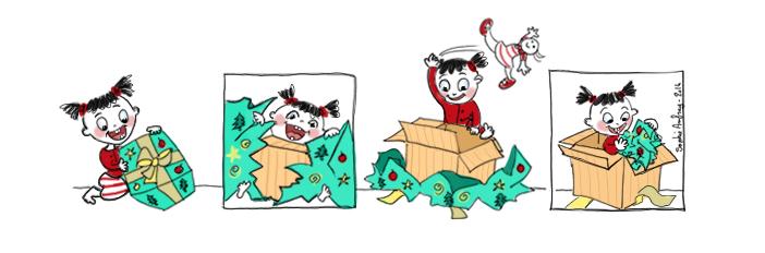 Strip humour sur les joies de Noël