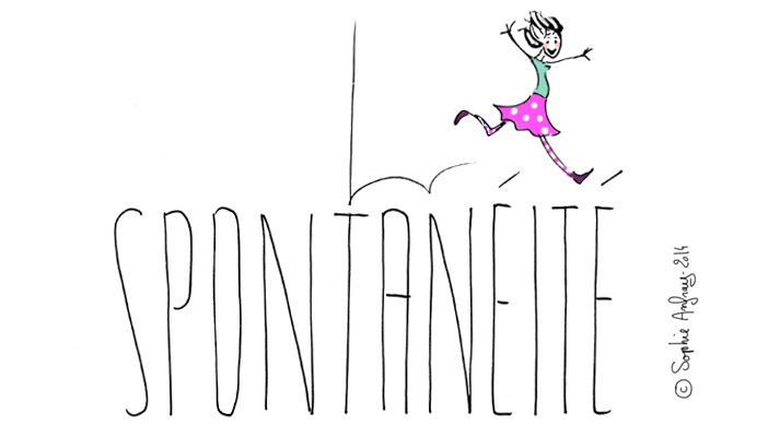 dessin d'humour sur la spontanéité