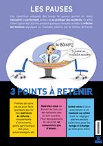 Affiche sur la nécéssité de faire des pauses au travail.