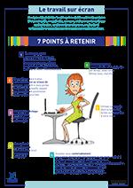 Affiche les 7 points à retenir pour le travail sur écran.