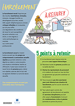 Affiche sur la prévention du harcelement en entreprise