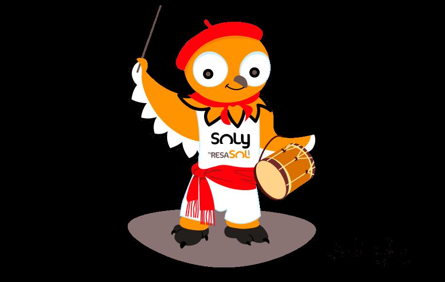 La mascotte Soly est au ferias.
